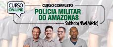 PM-AM   SOLDADO - TODAS AS DISCIPLINAS (NÍVEL MÉDIO)